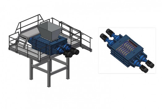 Датская компания Eldan разработала новый шредер для переработки шин